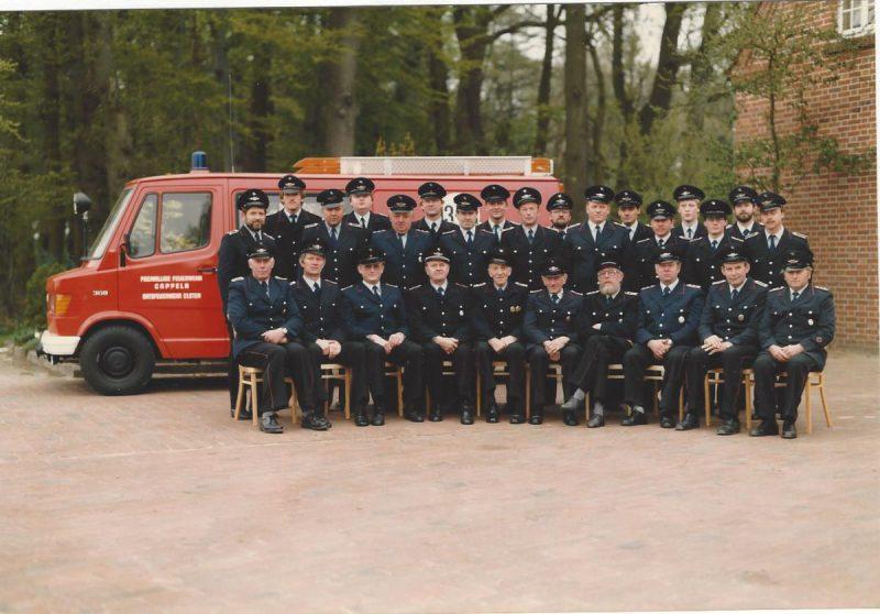 Gruppenfoto der FF Elsten 1987